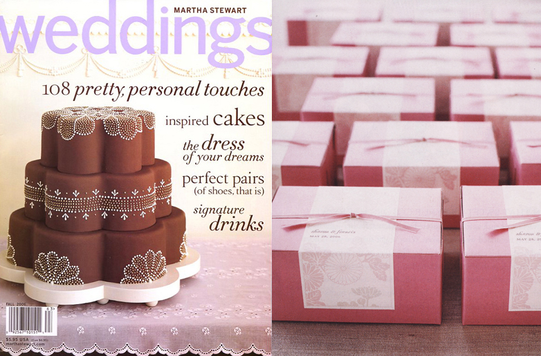 Martha Stewart Weddings Chocolate Cake Cover and Martha Stewart Weddings Sharon Slaughter Wedding Party Favor